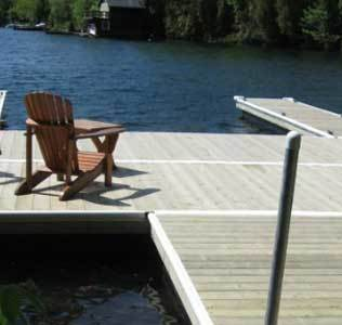 pontoon docks and floats